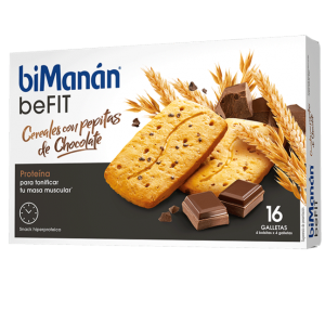 biManán beFIT Galleta Cereales y Chocolate - 16 Unidades