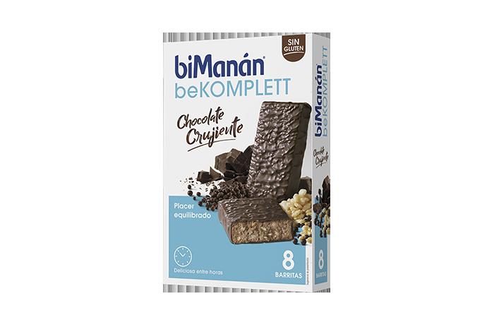 producto bekomplett caja 8 barritas chocolate crujiente biManán