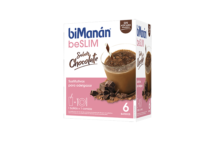 beslim caja 6 barritas batidos chocolate biManán